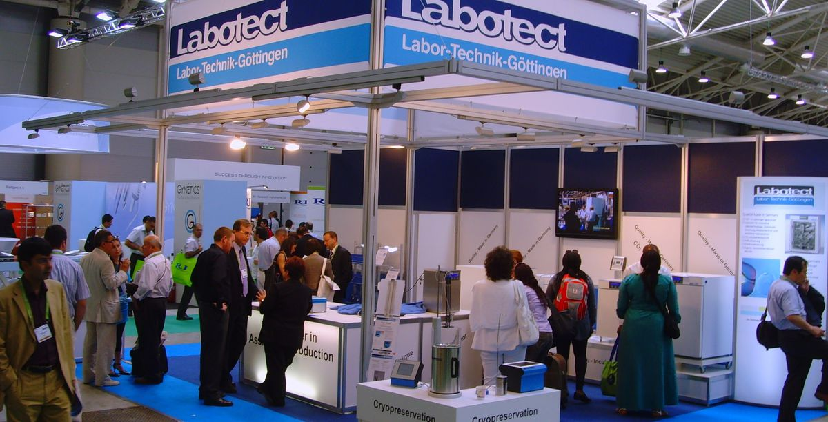 Booth of Labotect with different products of the GmbH.