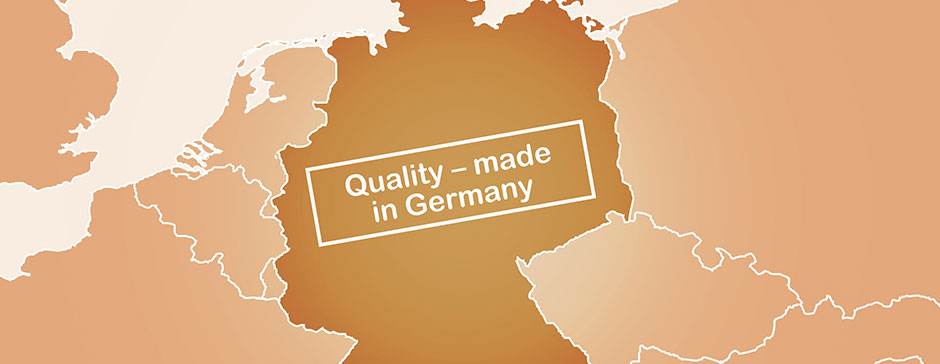 A cursory view of Europe, in which Germany is the center: Quality -made in Germany
